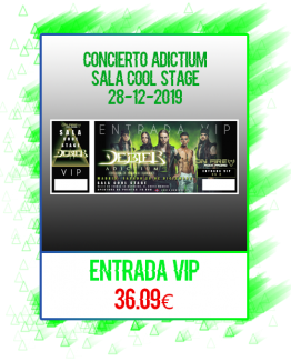 Entrada VIP Cool Stage (28-12-2019)
