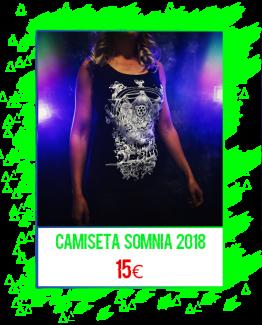 Camiseta Somnia 2018 (modelo chica)